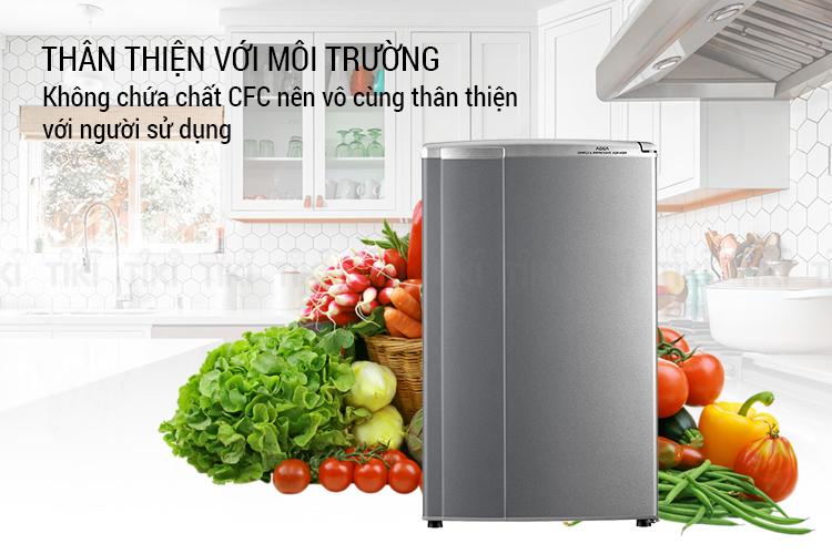 Tủ Lạnh Mini Aqua AQR-95ER-SV (90L) - Hàng chính hãng = 2.590.000đ