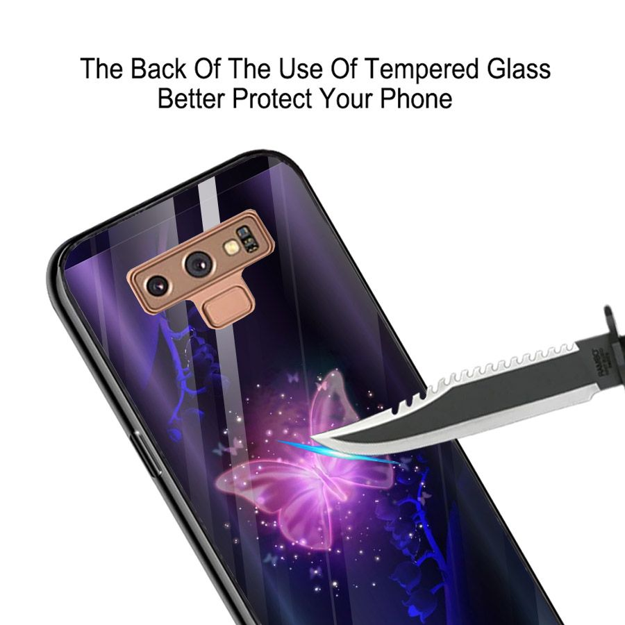 Ốp kính cường lực cho điện thoại Samsung Galaxy Note 9 - bướm đẹp MS BUOMD087