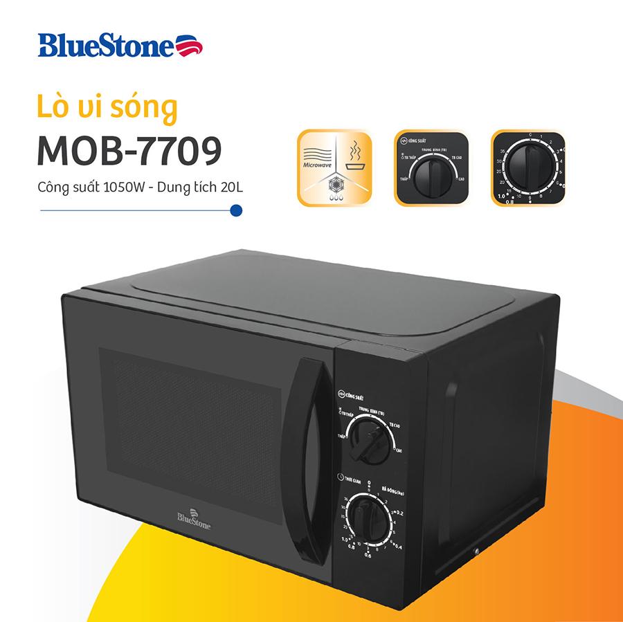 Lò Vi Sóng BLUESTONE MOB-7709 - 20L (Đen) - Hàng chính hãng