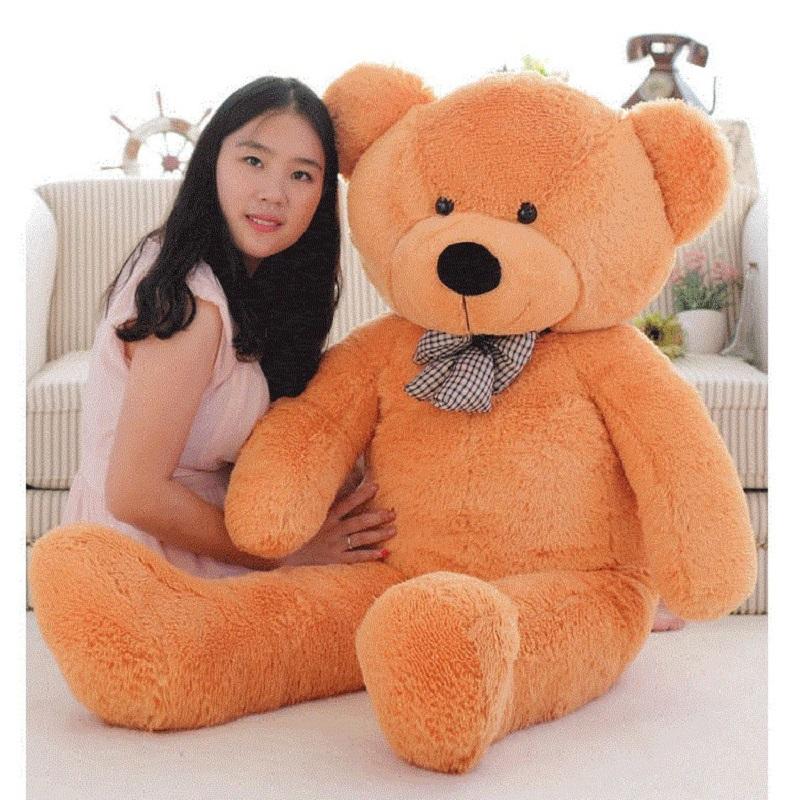 Gấu bông gối ôm cỡ lớn, thú nhồi bông cao cấp 1