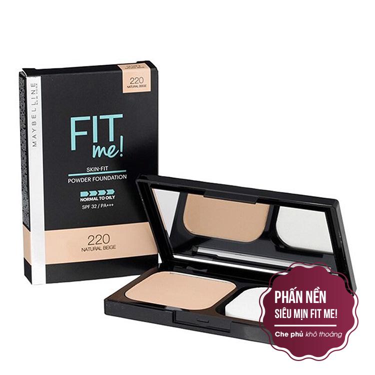 Phấn Nền Maybelline Fit Me Skin-Fit Powder Foundation 9gr Siêu Mịn Màng PM714 1