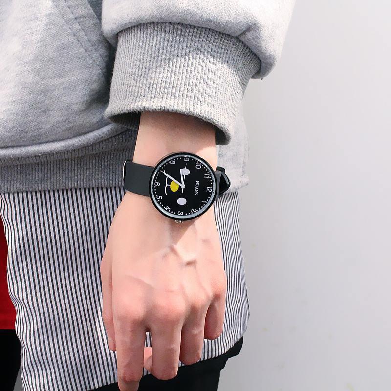 Đồng hồ thời trang nam nữ Huans Hmc1. hình mặt cười dây silicon. 3