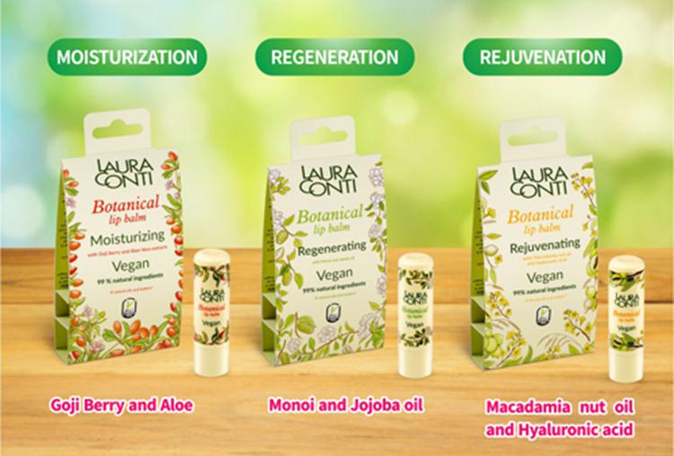 Botanical Lip Balm Vegan- REJUVENATION macadamia nut oil and hyaluronic acid