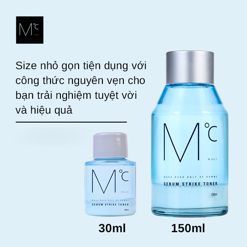 Nước hoa hồng kiềm dầu dành cho nam MdoC Sebum Strike 30ml JN-MTN03 - Ngăn  ngừa mụn Hãng MDOC | MyPhamTONA.com