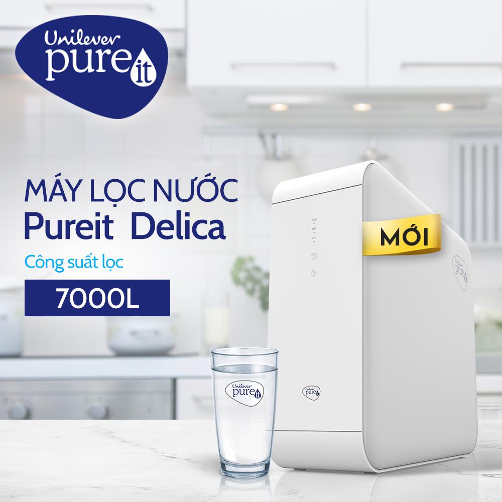 Máy Lọc Nước Unilever Pureit Delica – Công Nghệ Lọc RO - Lắp Dưới Ngăn Tủ Bếp - Hàng Chính Hãng