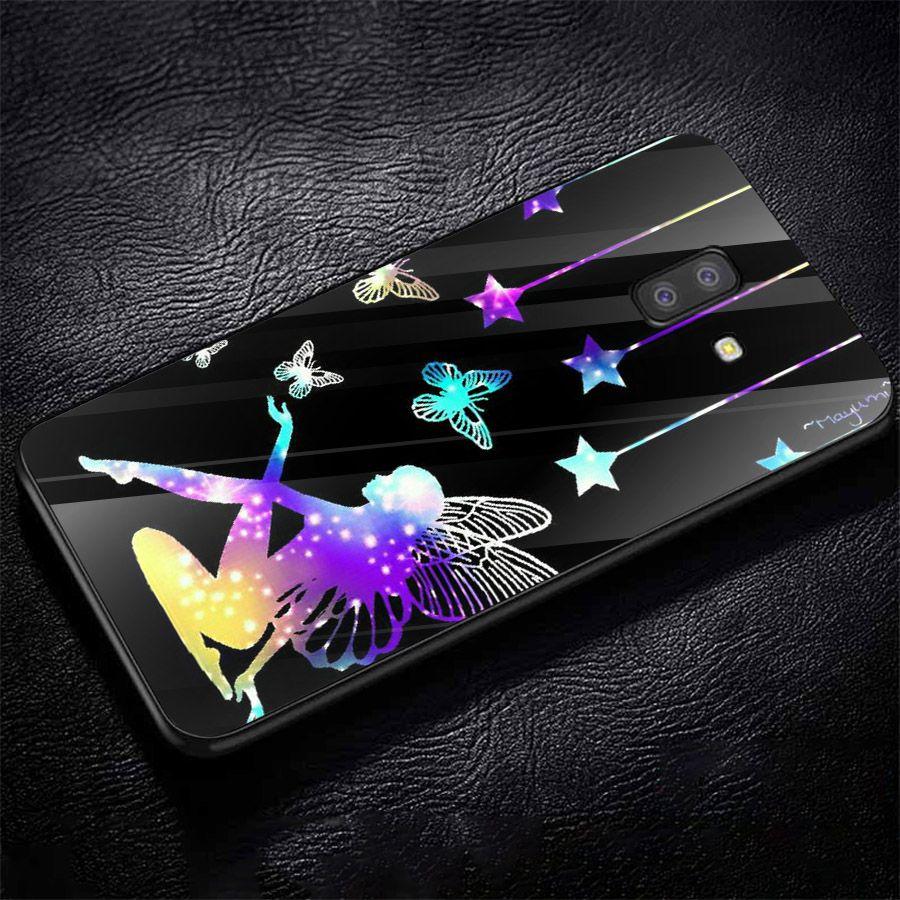 Ốp kính cường lực cho điện thoại Samsung Galaxy J4 - bướm đẹp MS BUOMD013