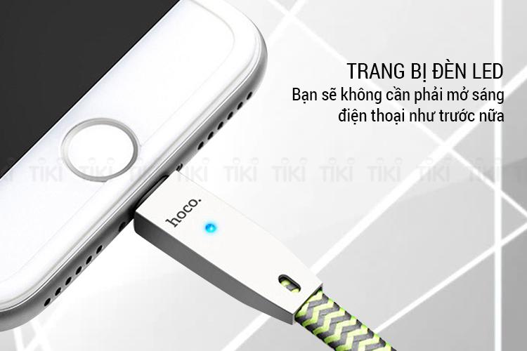 Cáp Sạc Cho iPhone Hoco U11 Dây Dù Tự Ngắt
