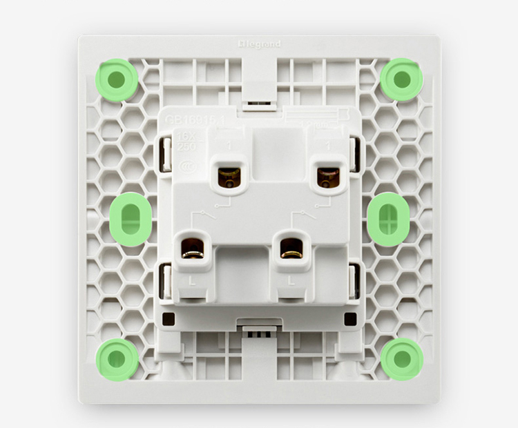 Legrand LEGRAND switch socket panel official code Yulan white double open single control with fluorescent switch