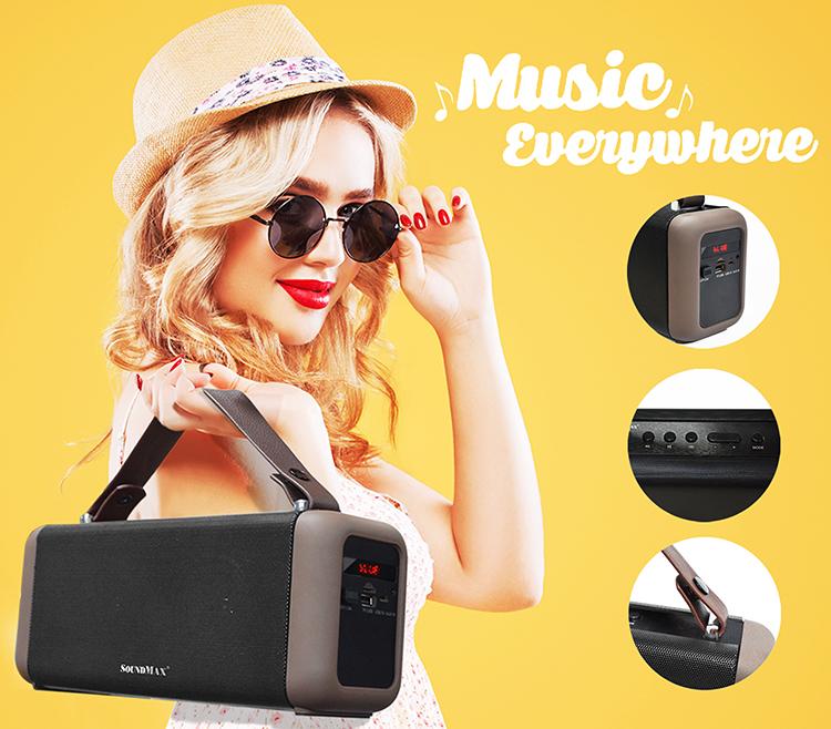 Loa Bluetooth Soundmax SB206 - Hàng Chính Hãng