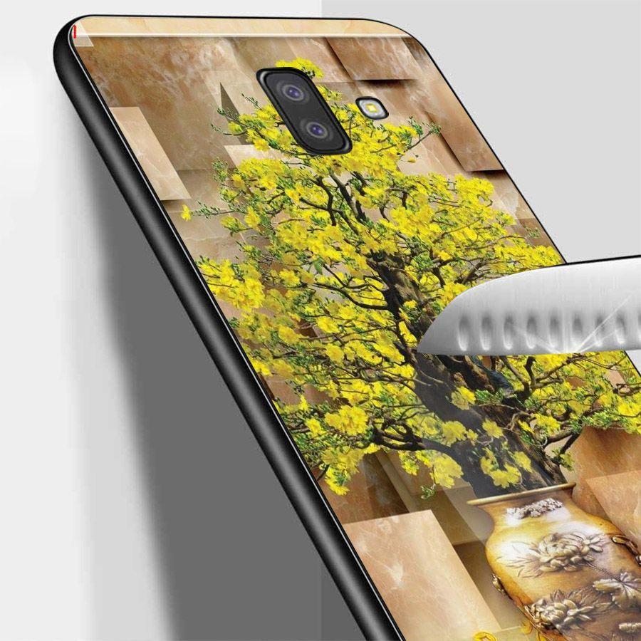 Ốp lưng điện thoại Samsung Galaxy J4 - Tranh Mai Đào MS MDAO032
