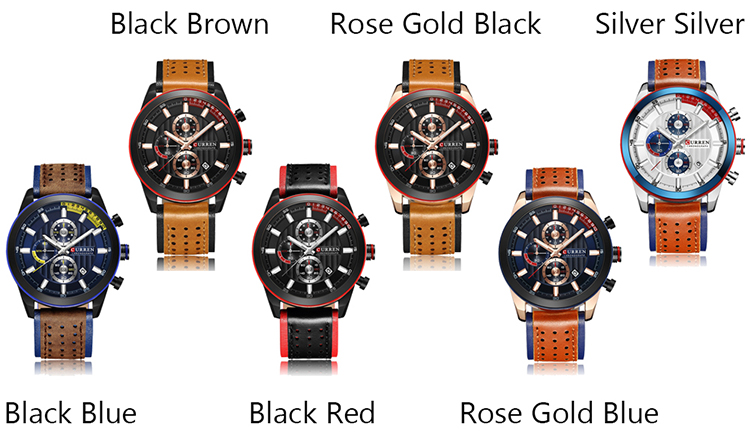 Curren Fashion Casual Business Men High Quality Watch Quartz Analog Sport Wrist Watch Relogio Masculino Best Gift