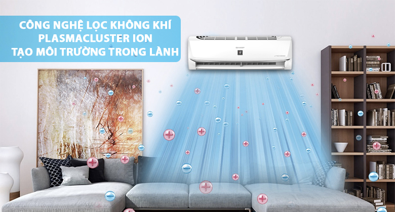 Điều Hòa Inverter Sharp AH-XP13WHW (12.000Btu) - Hàng Chính Hãng