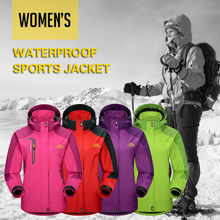 Lixada Waterproof Jacket Windproof Raincoat Sportswear Outdoor Hiking Traveling Cycling Sports Detachable Hooded Coat