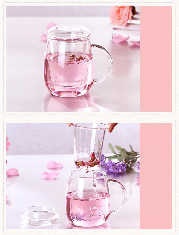 Ly Uống Trà Thủy Tinh Chịu Nhiệt RELEA 500ml
