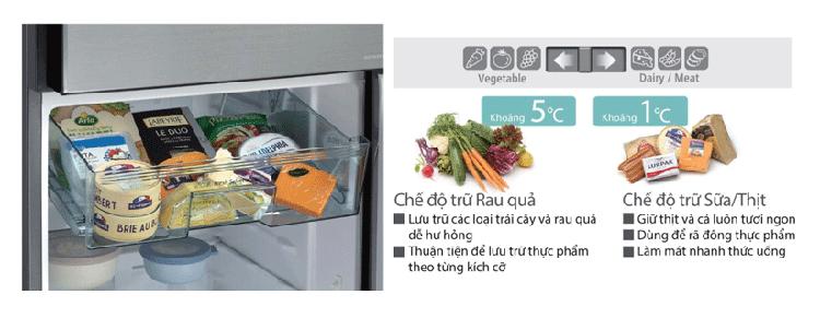 Tủ lạnh Hitachi R-H200PGV7(BBK) inverter 203 lít - Hàng Chính Hãng