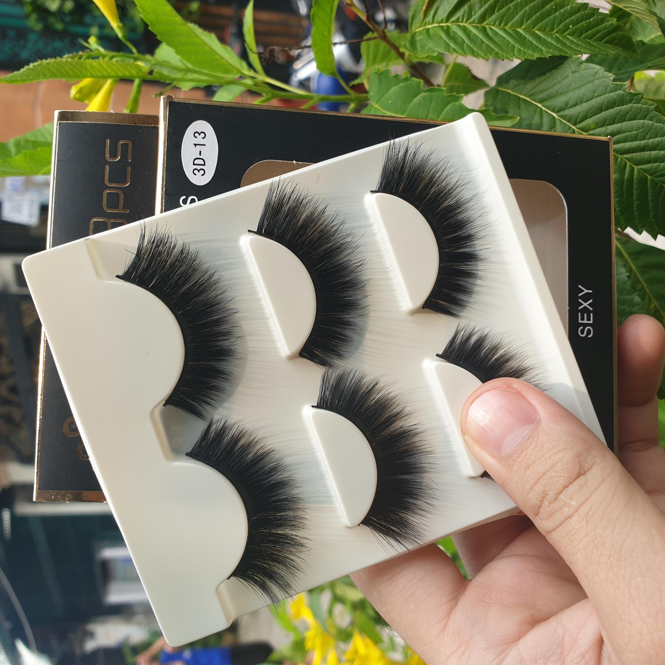 Lông mi giả lông chồn 3 Fashion Eyelashes 3 Faux-Cils 3D 1 bộ 3 cặp 52