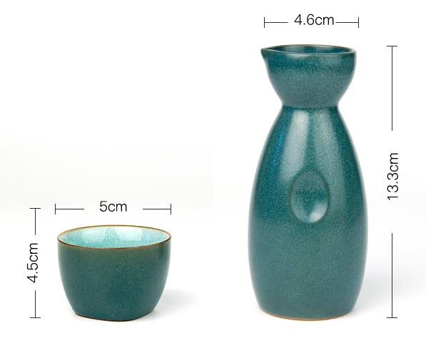 Bộ Bình Và 4 Ly Uống Rượu Meng Ke Ceramic