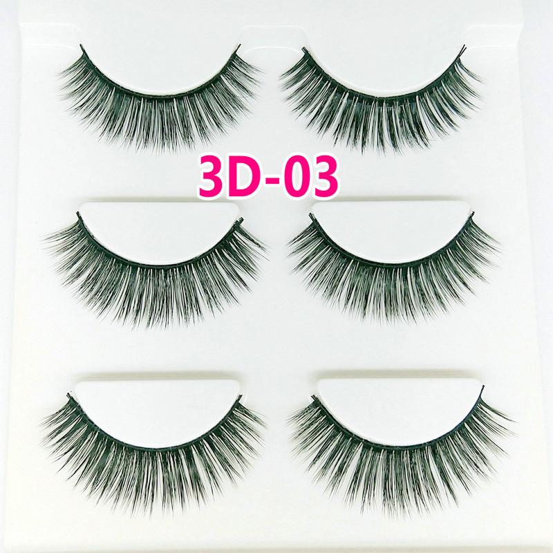 Lông mi giả lông chồn 3 Fashion Eyelashes 3 Faux-Cils 3D 1 bộ 3 cặp 11