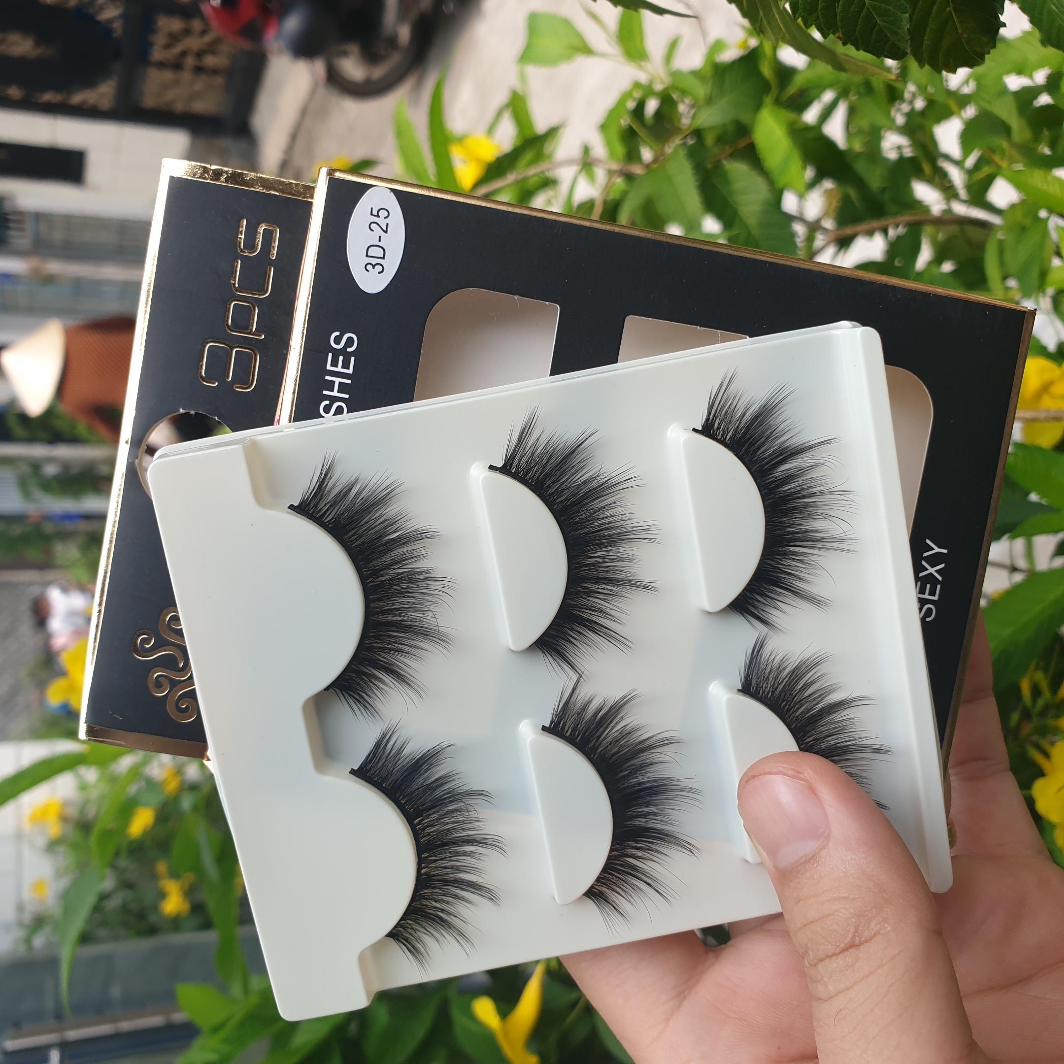 Lông mi giả lông chồn 3 Fashion Eyelashes 3 Faux-Cils 3D 1 bộ 3 cặp 100