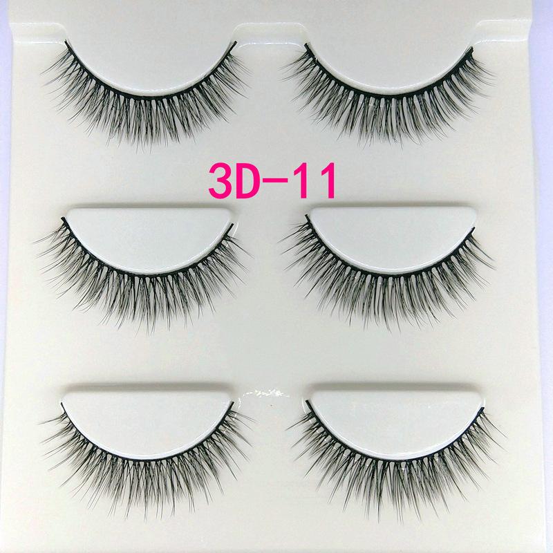 Lông mi giả lông chồn 3 Fashion Eyelashes 3 Faux-Cils 3D 1 bộ 3 cặp 42