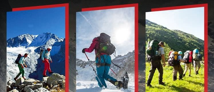 Gậy Gấp 4 Khúc Leo Núi ALPINT MOUNTAIN 610-203