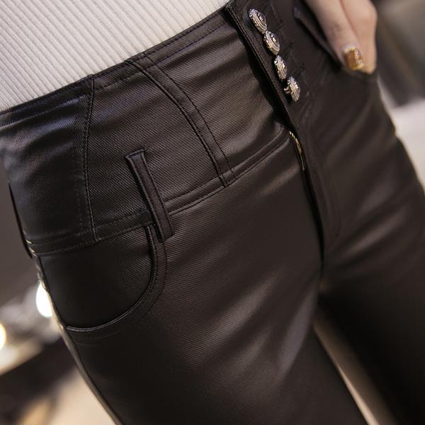Quần da nữ cao cấp lưng cao gọn bụng kiểu dáng phong cách - NP663 3