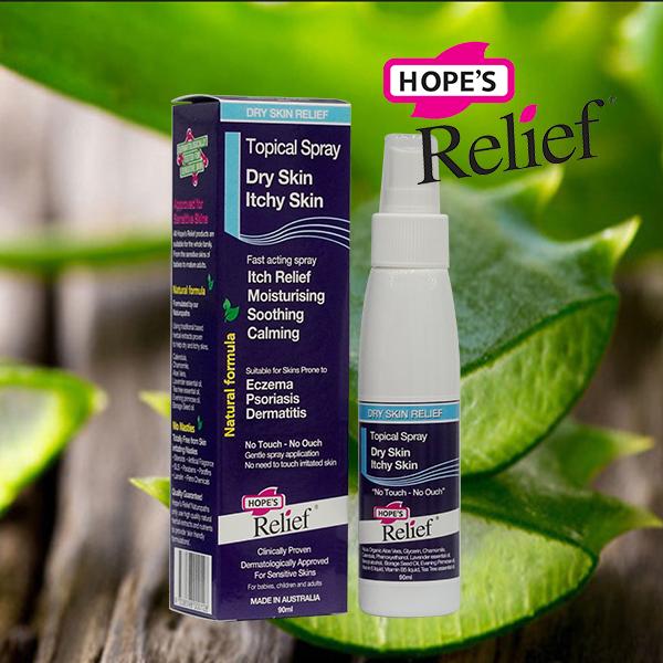 Xịt dưỡng da Hope's Relief cho da eczema, vẩy nến, viêm da