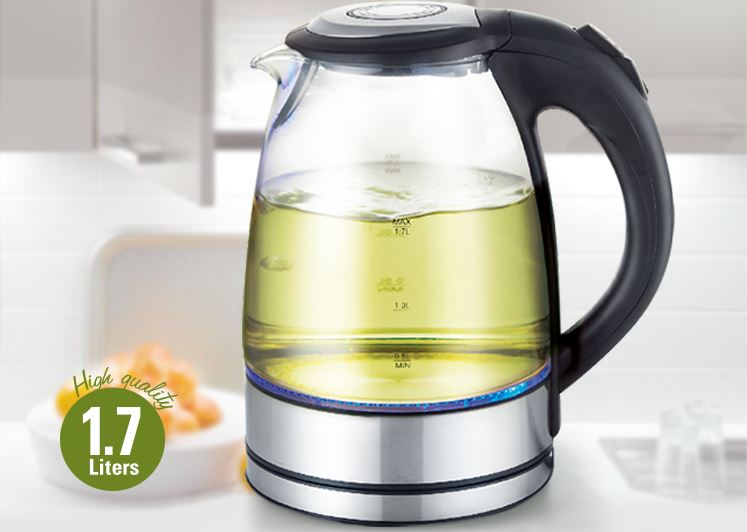 LOCK & LOCK Electric Kettle Glass 1.8L Blu-ray EJK418SLV