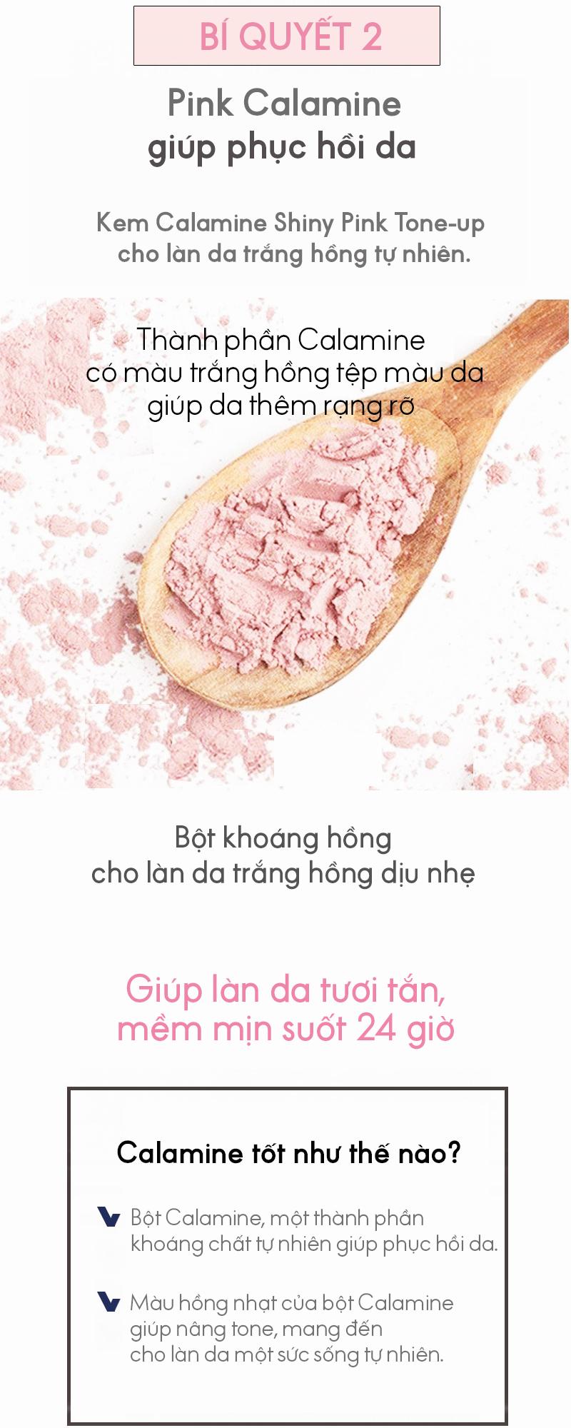 Kem nâng tông dưỡng da trắng hồng rạng rỡ - Natinda Calamine Shiny Pink Tone-Up Cream - 50g 9