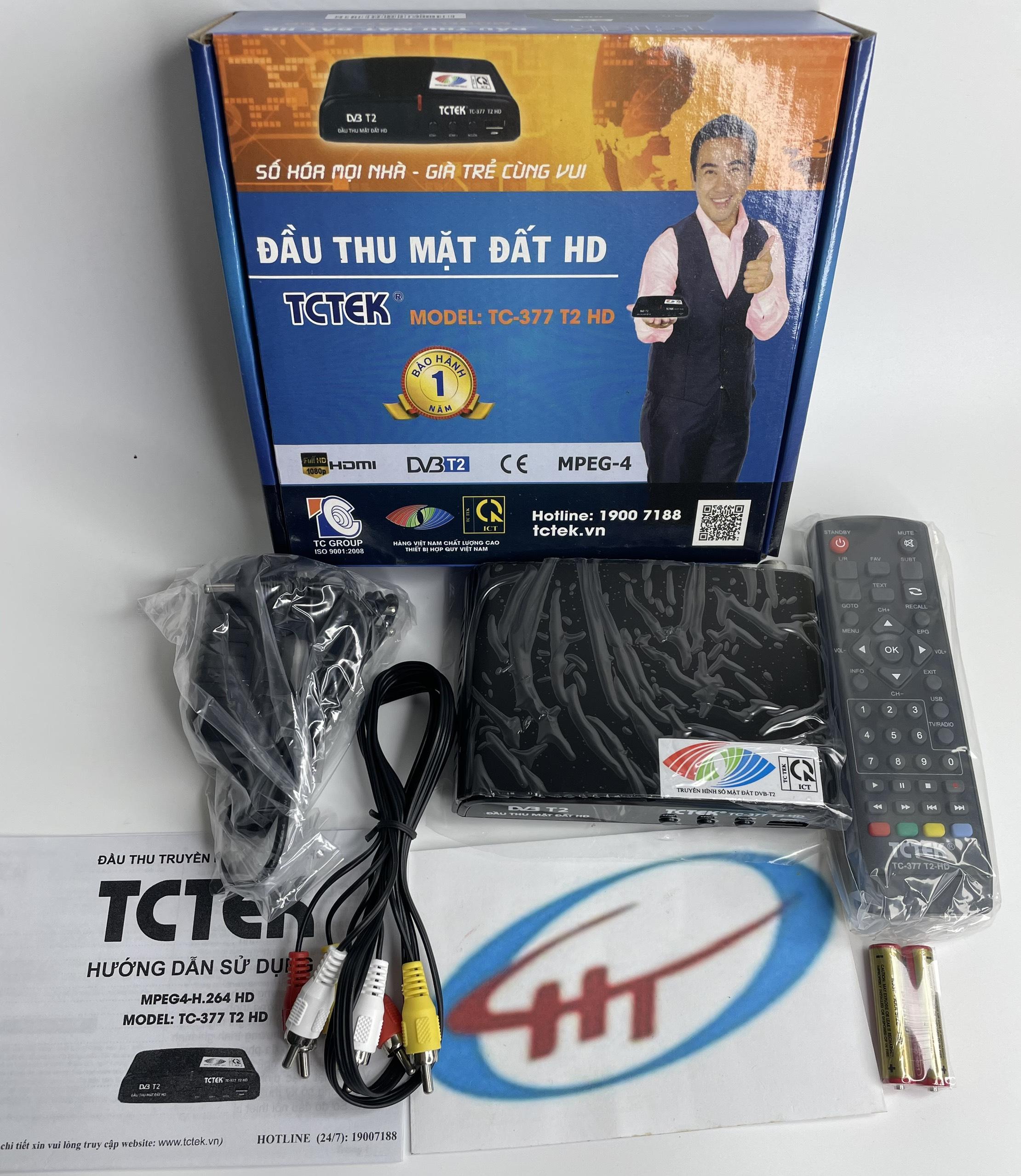 Đầu thu kỹ thuật số DVB T2 TCTEK 377,Hàng Chính Hãng. 1