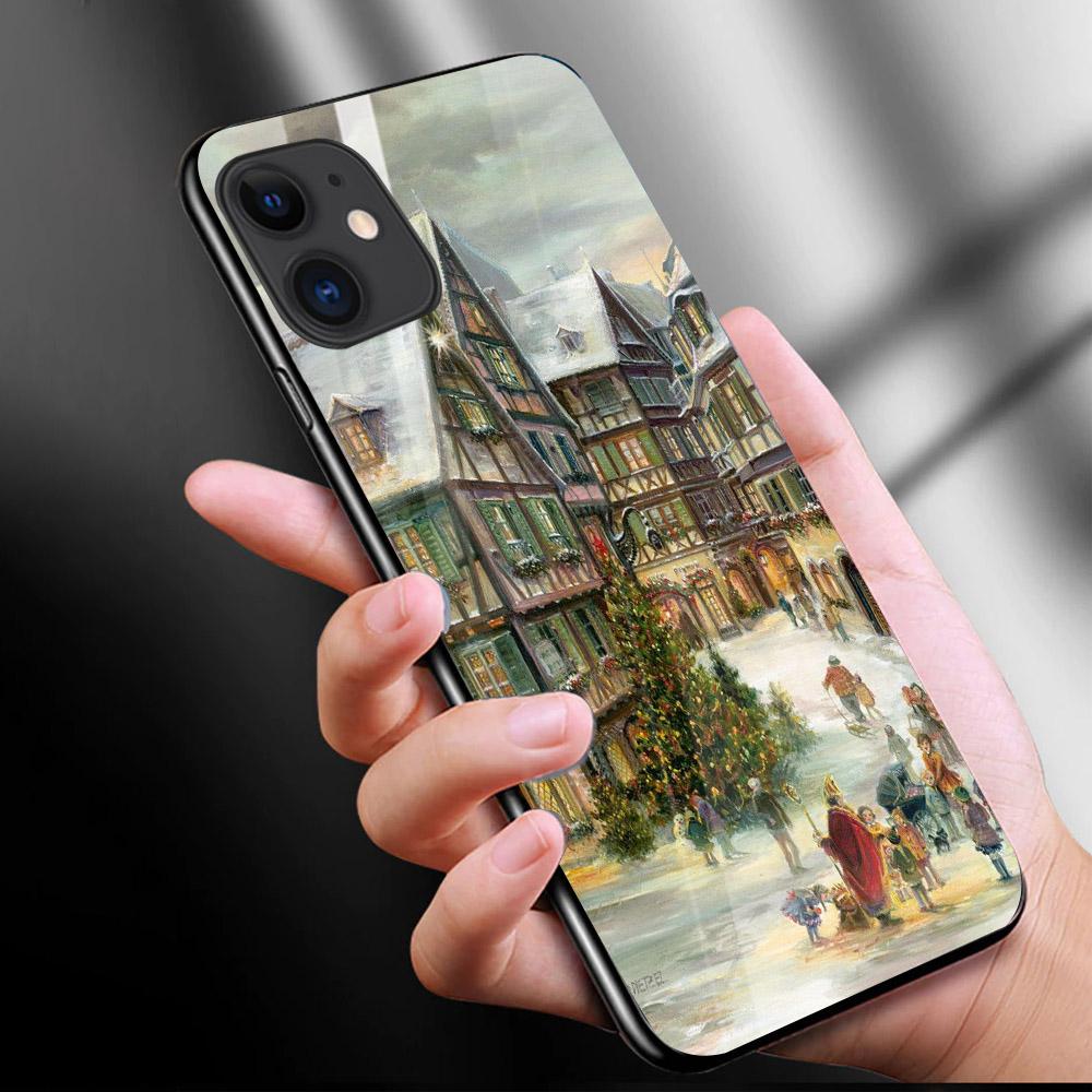 Ốp kính cường lực cho điện thoại iPhone 11 - ĐÊM GIÁNG SINH MS DGS034