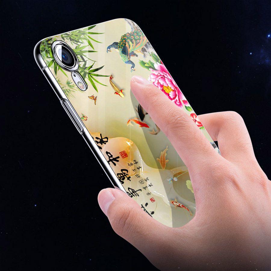 Ốp điện thoại kính cường lực cho máy iPhone XR - cá chép MS CACHEP001