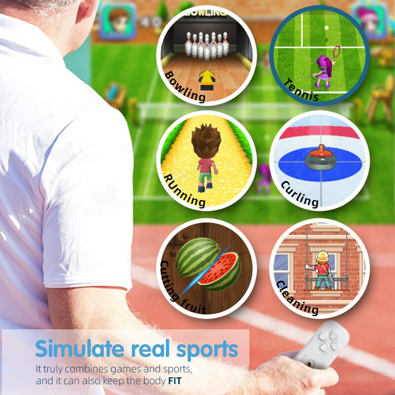 Bộ điều khiển game stick HDMI vận động thực tế 830 game Kết nối tivi 2 người chơi, Tải thêm game qua thẻ TF bộ stick fit nhỏ gọn tiện lợi - bản nâng cấp. 7