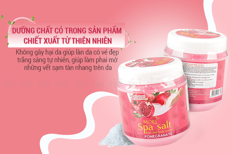Muối Tắm Spa Mori Quả Lựu Mori Spa Salt - Pomegranate (700ml)