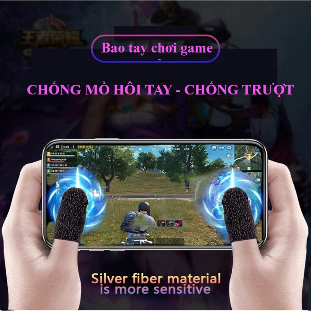 Găng tay chơi game cảm ứng PUBG, Liên quân, chống mồ hôi, cực nhạy - Hàng Chính Hãng 1