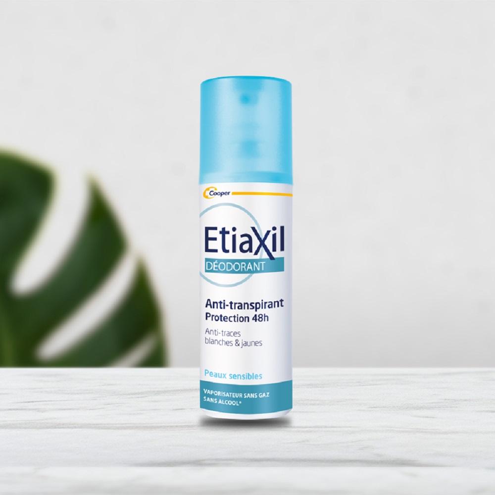 Xịt Khử Mùi Hàng Ngày Etiaxil Déodorant Anti-Transpirant 48H Peaux  Sensibles Vaporisateur (100ml) + Tặng 1 Móc Khóa Nhựa 2 Mặt - Lăn, xịt khử  mùi Nhãn hiệu ETIAXIL | MuaDoTot.com