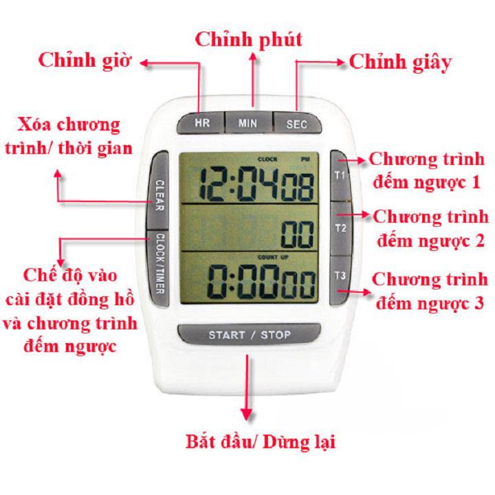 Đồng hồ đếm ngược version 1 (độ chính xác cao, có chuông báo) - Tặng kèm quạt cắm cổng USB mini (vỏ nhựa, giao màu ngẫu nhiên) 2