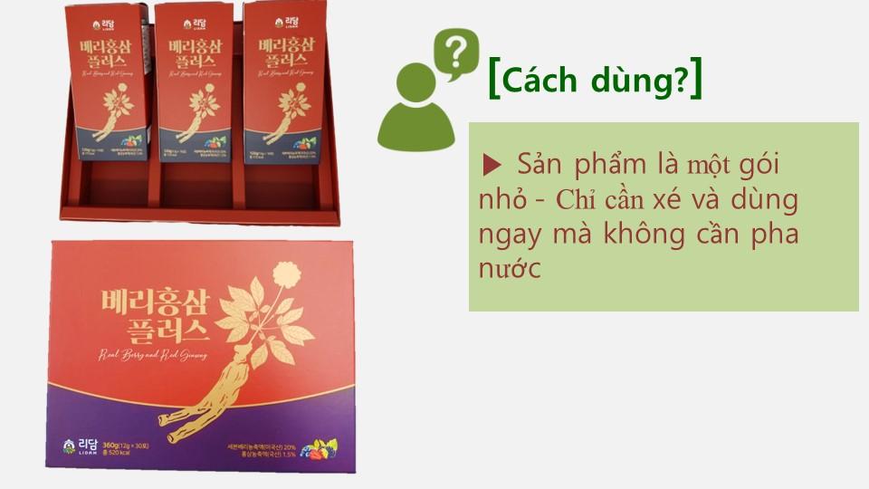 Nước Hồng Sâm Quả Mọng Cung Cấp Collagen Và Vitamin Berry Red Ginseng Plus 360g (12g x 30 gói) Hàng Nhập Khẩu Cao Cấp 9