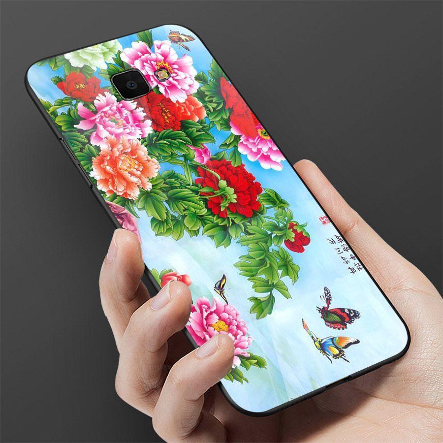 Ốp kính cường lực cho điện thoại Samsung Galaxy A50 - mẫu đơn MS MAUDON051