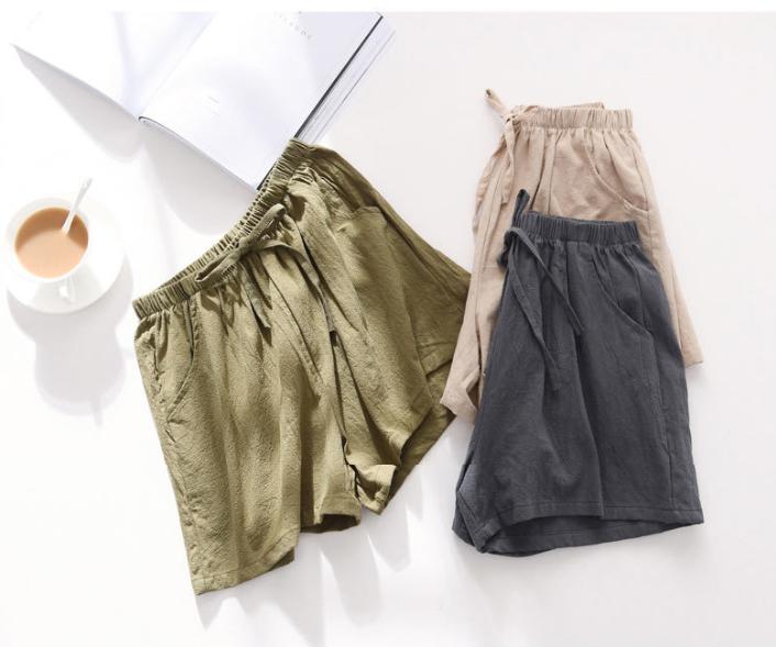 Quần đùi short nữ vải đũi thời trang mát mẻ mùa hè QĐ06 11