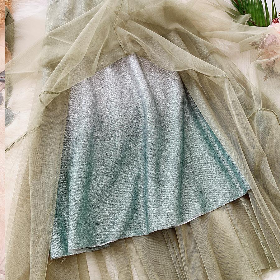 Váy xòe lưới tutu loang mầu lấp lánh VAY53 9