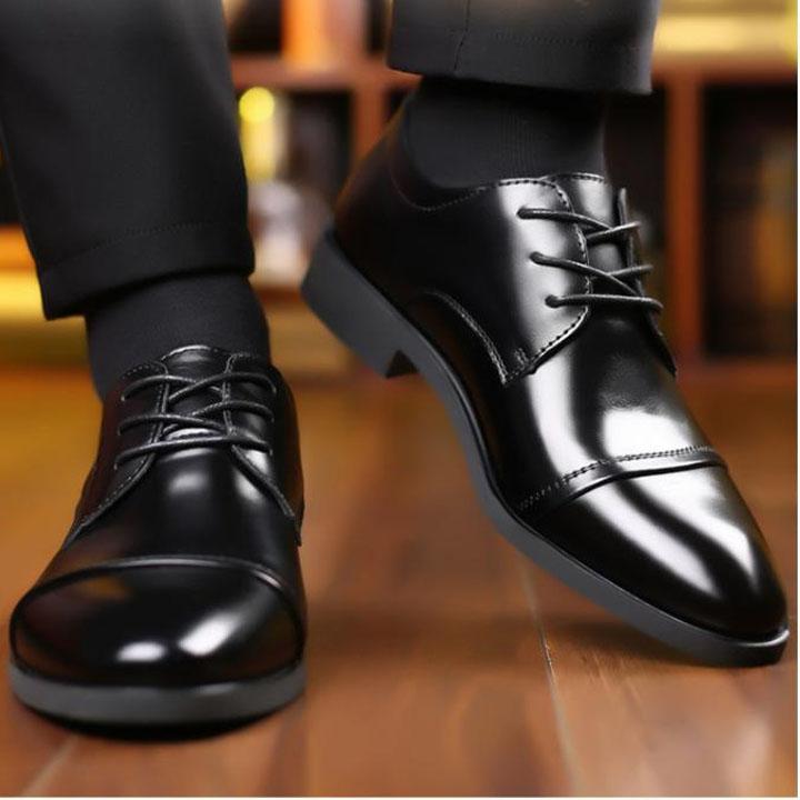 Giày da thật nam giày da nam cao cấp giày nam công sở sang trọng, phong cách thời trang giày da cao cấp giày nam mẫu mới mã 8867-A 1