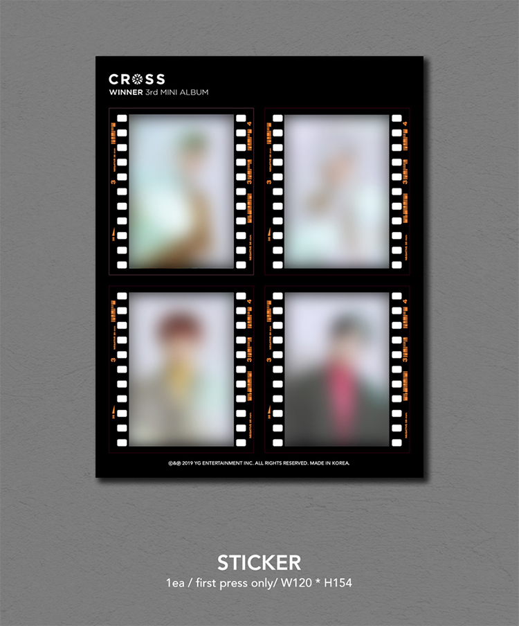 WINNER CROSS 3rd MINI ALBUM SET CD+Photobook+Photocard+Etc