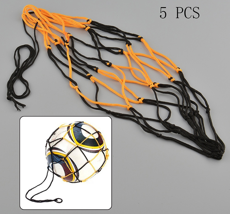 5pcs Nylon portable Bag Ball Carrying Net Bag for Basketball Football