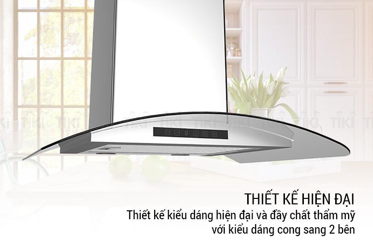 Máy Hút Mùi Kính Cong Chef's EH-CASPIA70T (70cm) - Hàng Chính Hãng