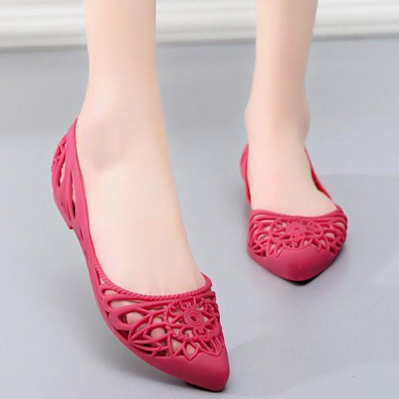 Giày búp bê đi mưa nữ hoa văn độc đáo , chất liệu nhựa cao cấp không trơn trợt 9600302 8