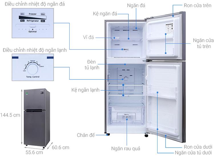 Tủ lạnh Samsung Inverter 208 lít RT19M300BGS/SV - Chỉ gia HCM