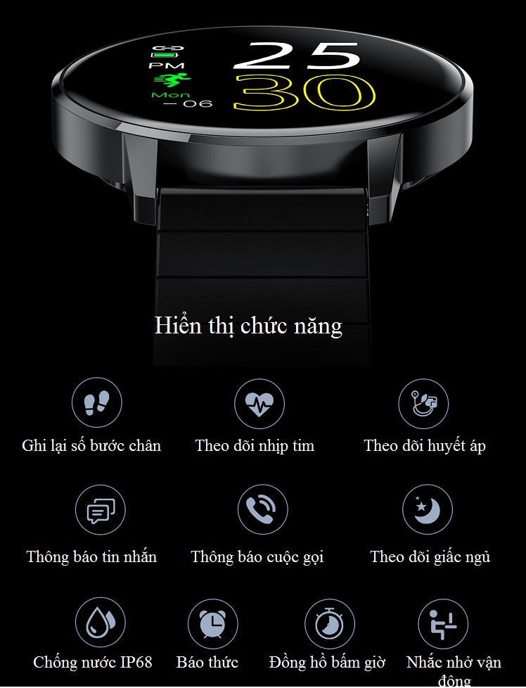 Đồng hồ thông minh đo nhịp tim, theo dõi sức khỏe T4 Pro ( Thiết kế sang trọng, chống nước cao IP68 ) - Hàng Nhập Khẩu 5