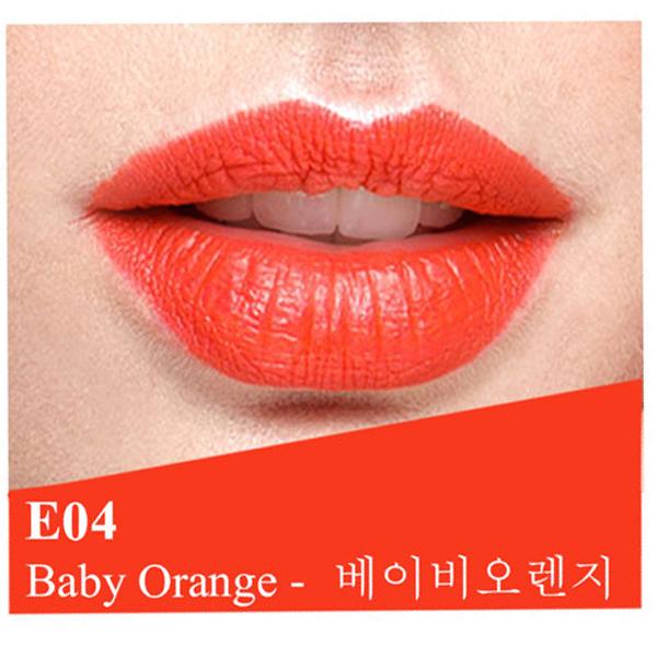 Son lì dưỡng, siêu mềm mượt Benew Perfect Kissing Hàn Quốc 3.5g E04 Baby Orange tặng kèm móc khóa 1
