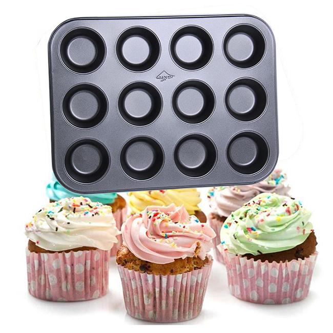 Khuôn chống dính nướng bánh cupcake 12 ô to | Tiki
